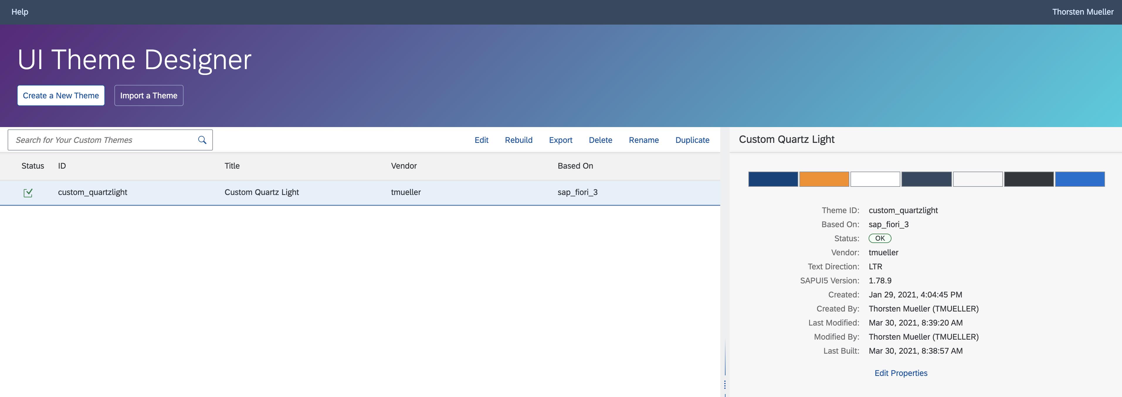 UI5 Theme Designer